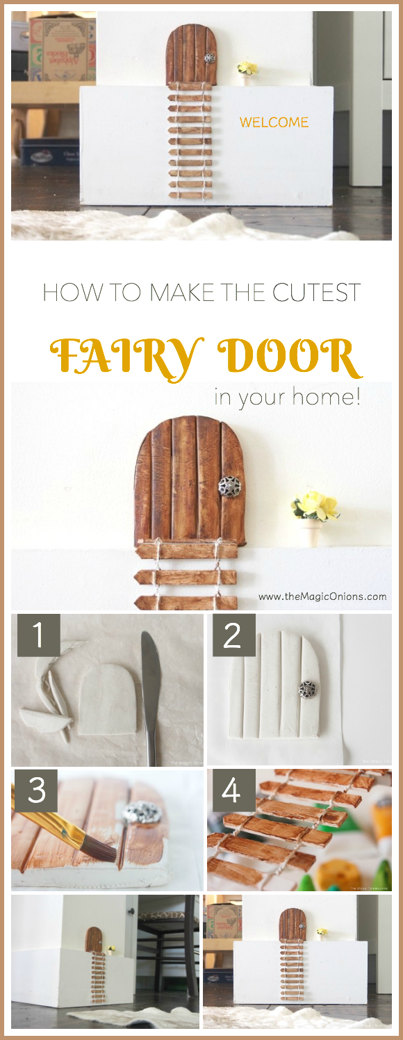 How to make the cutest FAIRY DOOR for your home. Your children will be ENCHANTED. Fun for a TOOTH FAIRY door too.