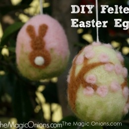 Felted Easter Eggs : Needle Felting Tutorail