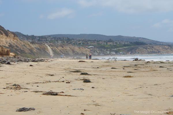 beach and cliffs at the Crystal Cove beach