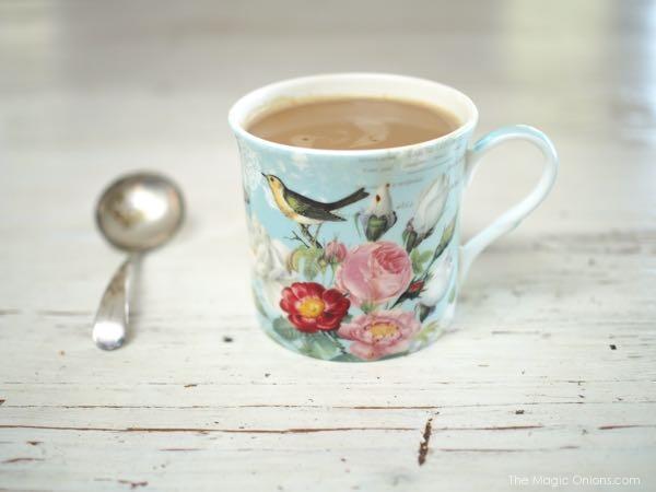 Photo of a shabby chic coffee mug