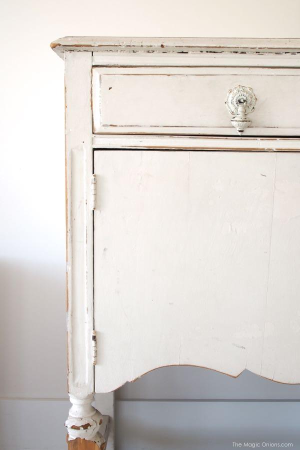 photo of my shabby chic dresser