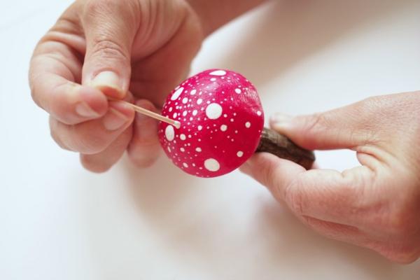 photo of DIY magial clay toadstools in my fairy garden tutorial craft