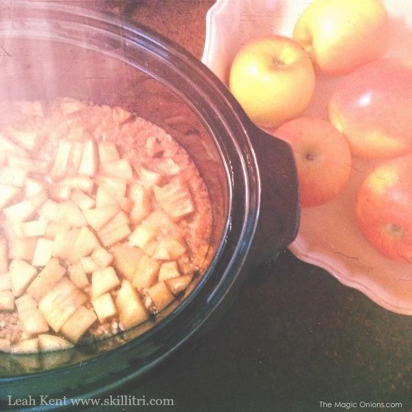 Autumn Breakfast ~ Overnight Spiced Fruit Porridge