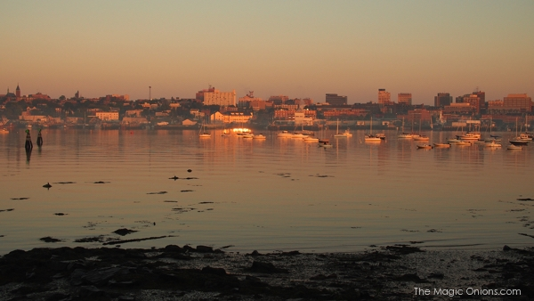 Sunrise over Portland, Maine : www.theMagicOnions.com