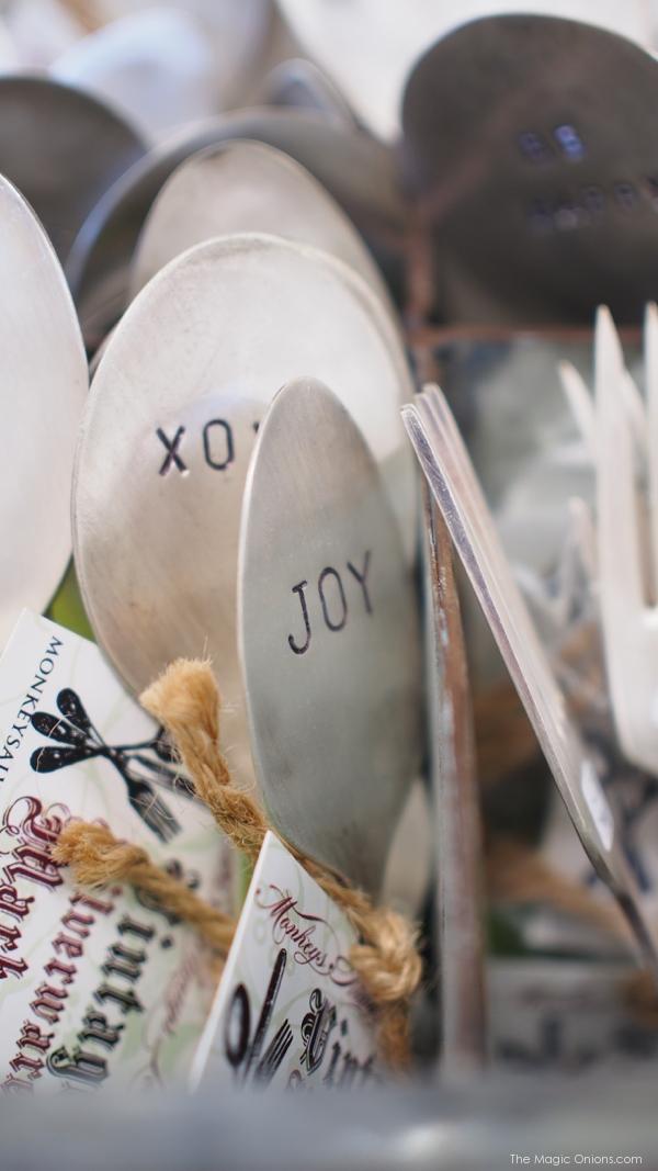 Silver Spoon Garden Markers, Portland, Maine - www.theMagicOnions.com