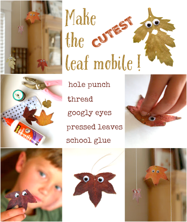 The Cutest Leaf Mobile : www.theMagicOnions.com