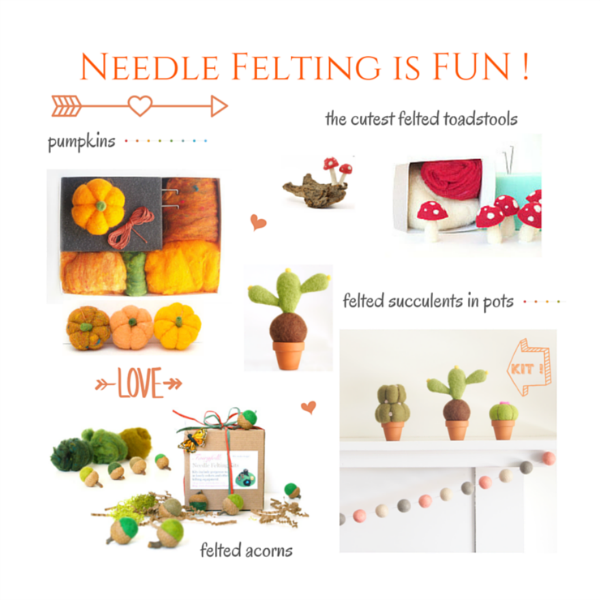 Needle Felting Kits : http://themagiconions.com/shop/product-category/needle-felting-kits/