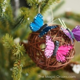 Butterfly Christmas Ornaments