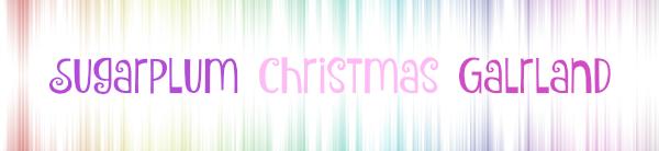 Sugarplum Christmas garland