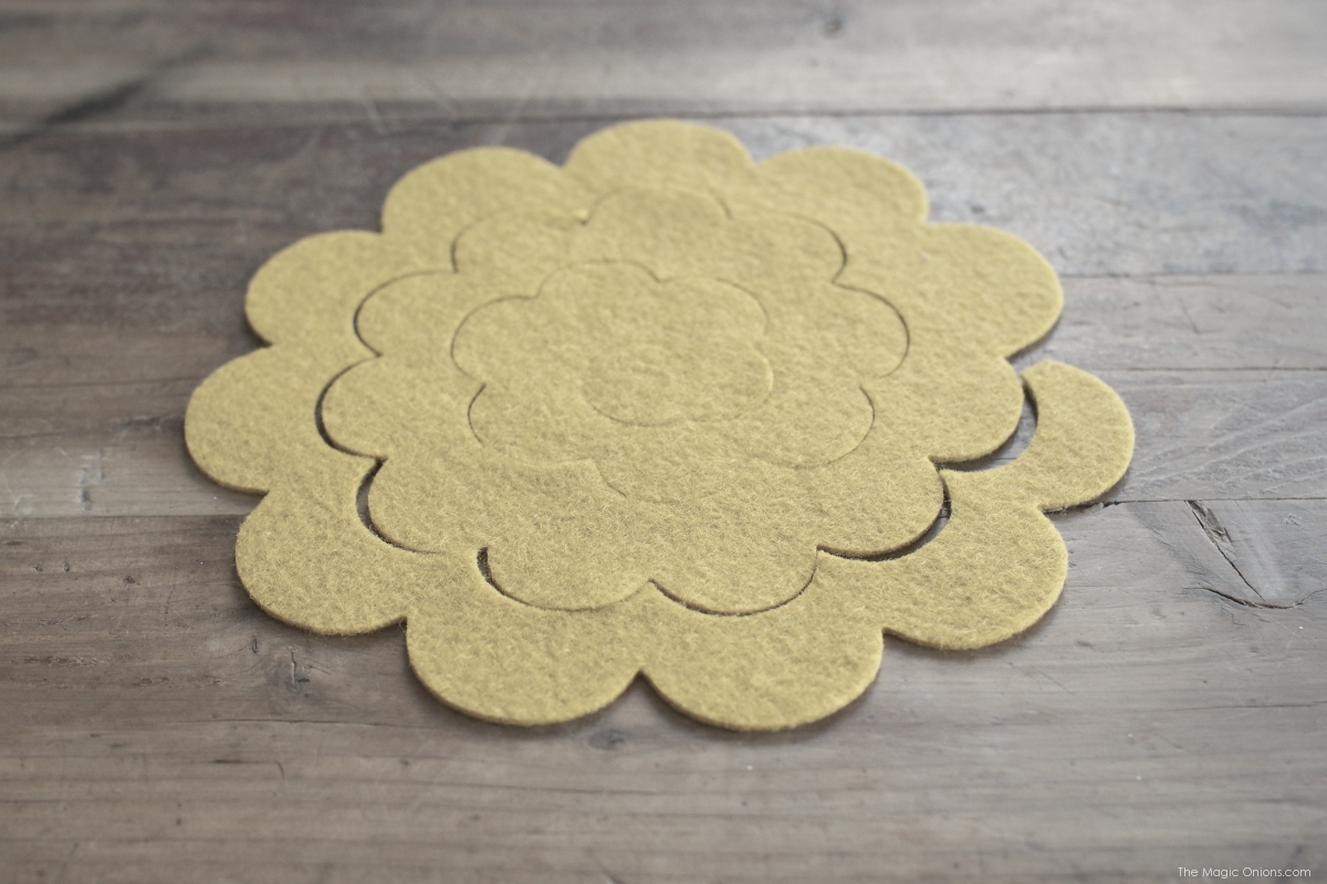 Make DIY Felt Flower Barettes for Spring with The Magic Onions Blog