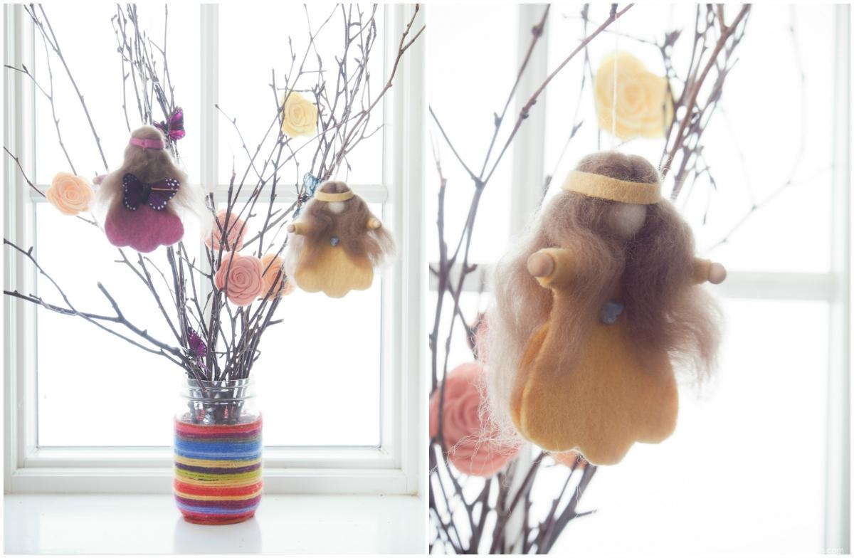 Spring Fairy :: DIY Felt Tutorials :: www.theMagicOnions.com