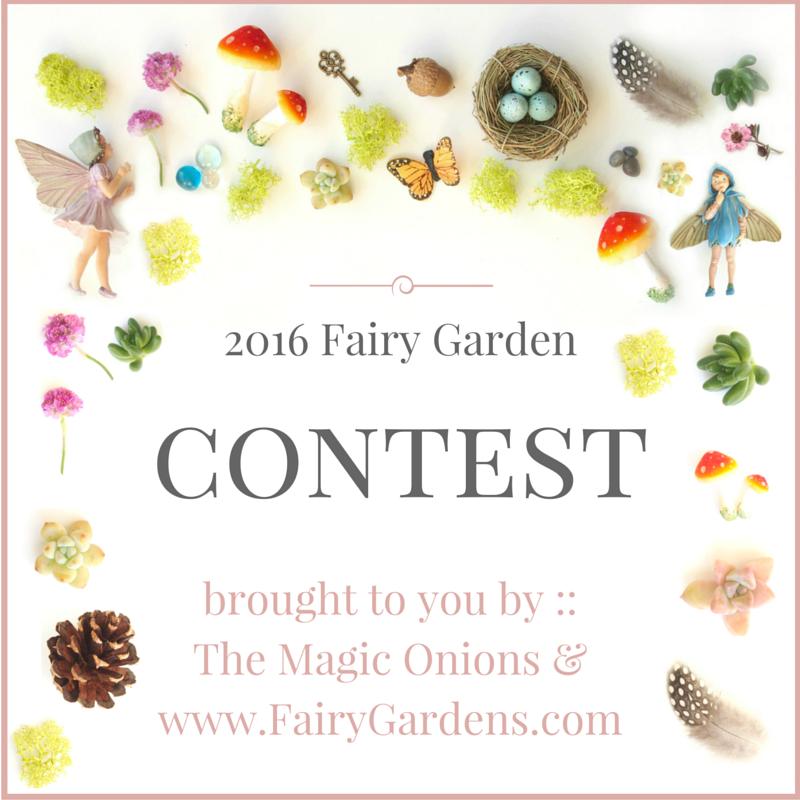 Fairy Garden Contest 2016 :: The Magic Onions :: www.FairyGardens.com