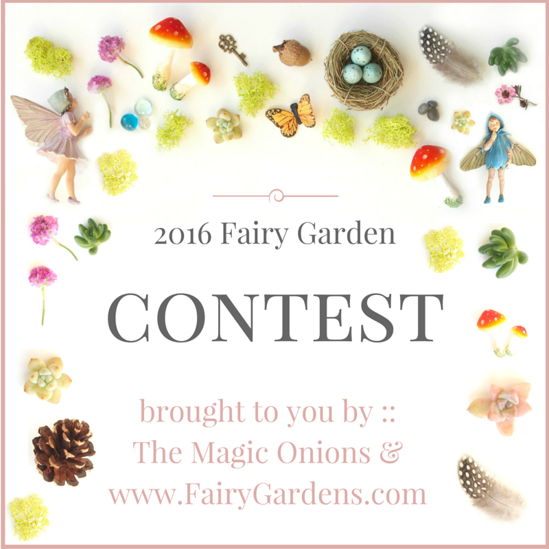 2016 FaiFairy Garden Contest 2016 :: The Magic Onions :: www.FairyGardens.comry Garden copy