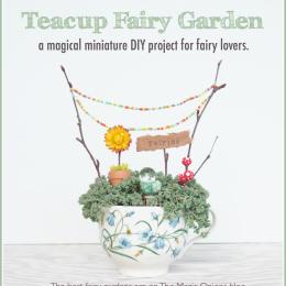 Fairy Garden in a Teacup :: DIY Tutorial :: www.theMagicOnions.com