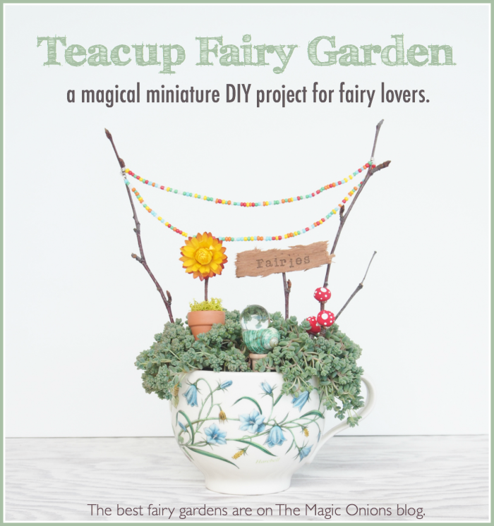 A Fairy Garden in a Tea Cup :: A Miniature DIY Tutorial