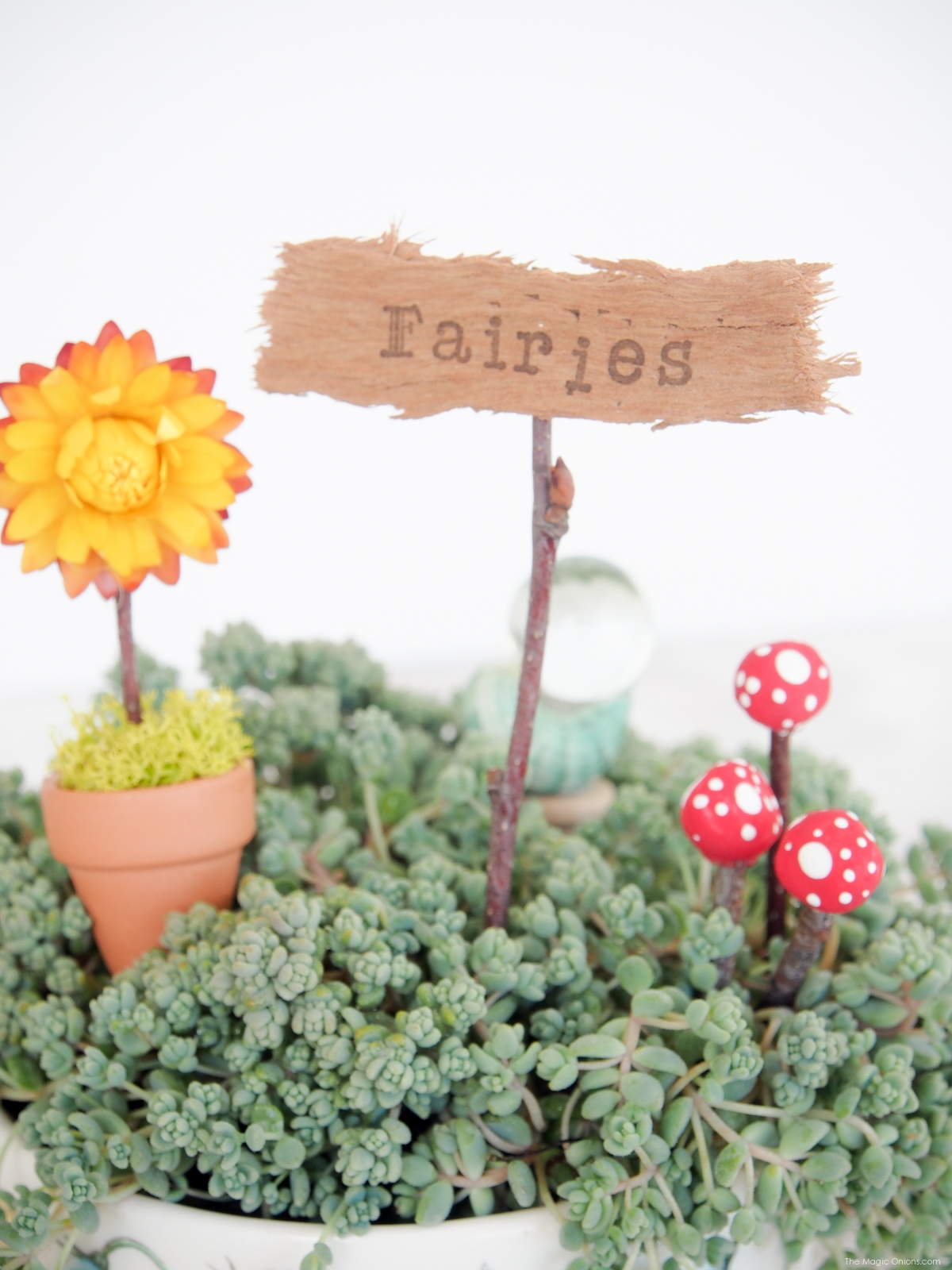 DIY Mini Toadstools for your Fairy Garden - The Magic Onions