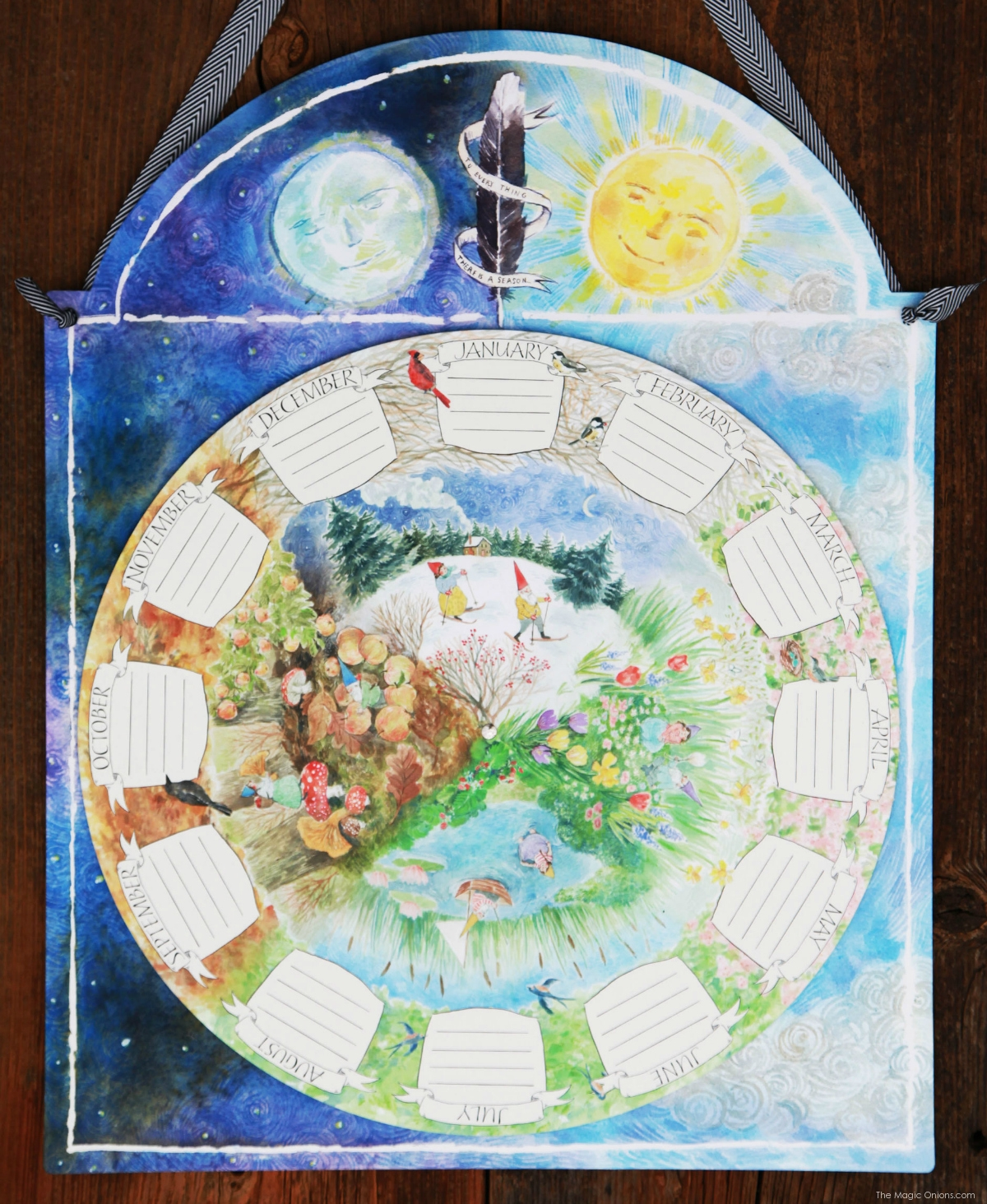 Perpetual Waldorf Calendar :: Discovering Waldorf Education :: www.theMagicOnions.com