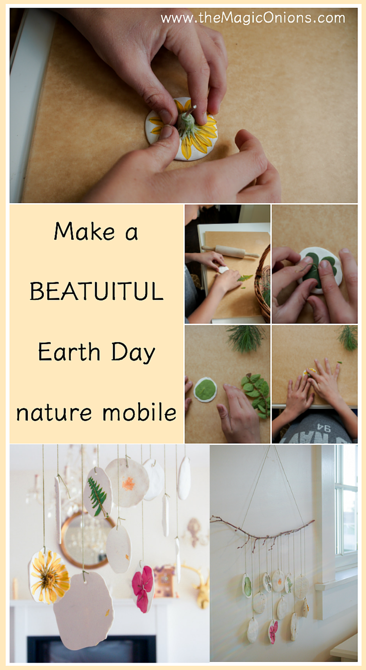 Nature Mobile :: Earth Day DIY Activity :: Tutorial :: www.theMagicOnions.com