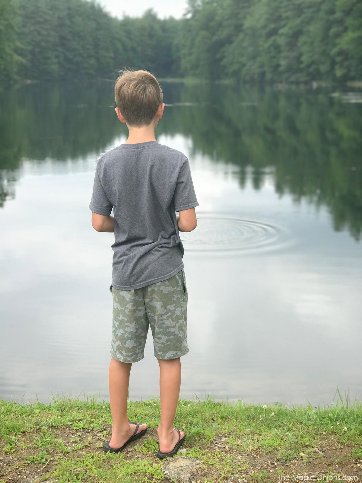 Photo of boy at lake